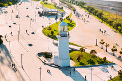 Batumi, Adjara, Georgia Ansicht alten Pitsunda-Leuchtturmes im Wunder-Park Lizenzfreies Stockbild