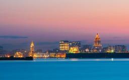 Batumi, Adjara, Georgia Bunter heller Abend-Himmel über Erholungsort Stockbild