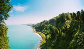 Batumi Adjara Georgia Härlig sommarsikt från botanisk Gar Arkivbilder