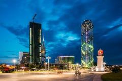 Batumi, Adjara, Georgia Im Bau Wolkenkratzer, Beleuchtung Lizenzfreie Stockfotografie