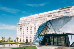 Batumi, Adjara, Georgia. Modern building of McDonalds restaurant Stock Photography
