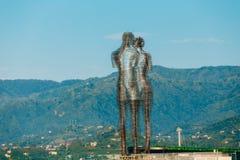 Batumi, Adjara, Georgia. Moving metal sculpture created by Georgian sculptor Tamara Kvesitadze Royalty Free Stock Photography