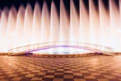 Batumi, Adjara, Georgia. Singing And Dancing Fountains Is Local Landmark At Boulevard Fountains. Night Illuminations Stock Image