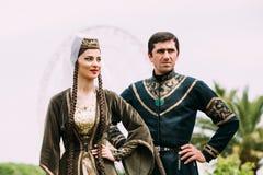 Batumi, Adjara Gruzja, Maj, - 26, 2016: Młoda para mężczyzna i kobieta Obrazy Royalty Free