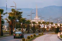 Batumi, Adjara, la Géorgie Route et Marine Station de rue de Gogebashvili Photographie stock