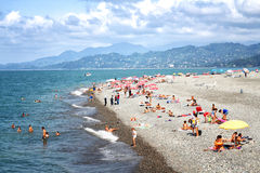 Batumi beach Stock Images