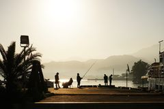 Batumi beach morning Stock Photography