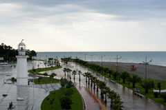 Batumi embankment stock image