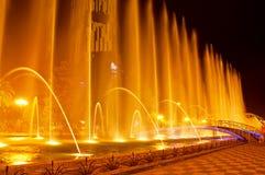 Batumi fontanny przedstawienie obraz royalty free