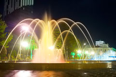 Batumi fountains Royalty Free Stock Image