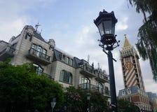 Batumi gataljus royaltyfria bilder