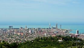 BATUMI, GEÓRGIA 25 DE MAIO DE 2015 Panorama da cidade O Mar Negro Fotos de Stock Royalty Free