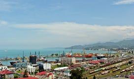 BATUMI, GEÓRGIA 25 DE MAIO DE 2015 Panorama da cidade O Mar Negro Imagem de Stock