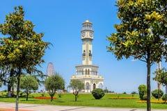 BATUMI, 2 Georgië-JULI de Fontein van 2015 met Chacha in Batumi-toren, door groen park, op 25 Mei in Batumi wordt omringd die Royalty-vrije Stock Afbeelding