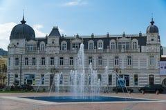 BATUMI, GEORGIË - OCT 7, 2016: Het ensemble van het Vierkant van Europa met de fontein, op 26 Mei in Batumi wordt verfraaid die Royalty-vrije Stock Afbeelding