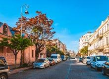 Batumi, Georgi? - April, 13 2019 Toeristenstraat in de vroege ochtend stock afbeeldingen