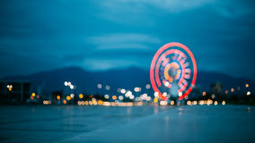 Batumi Georgia. Abstract Motion Blur Image Of Red Illuminated Fe Stock Photos