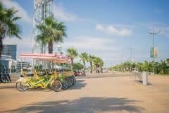 BATUMI GEORGIA Bike uthyrnings- system i Batumi Systemet skapas av kommunen av Batumi Arkivbild