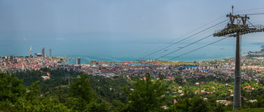 BATUMI, GEORGIA - JULY 20: view from cabin cableway Stock Images