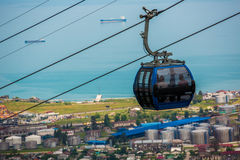 BATUMI, GEORGIA - JULY 20: view from cabin cableway Stock Image