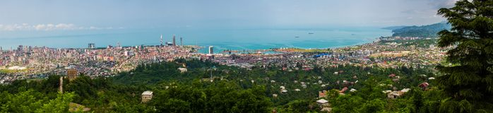 BATUMI, GEORGIA - JULY 20: view from cabin cableway Stock Photography