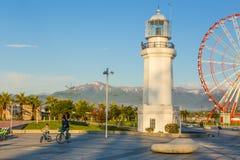 Batumi, Georgia. Lighthouse at balck sea shore in Batumi, Georgia Royalty Free Stock Image