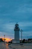 Batumi Georgia. Old Lighthouse, White Stone Construction, Miracle Park. Stock Photo