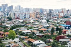 Batumi. Georgia. Panorama of the city on the old and new modern Batumi. Houses, apartments, rent, construction. royalty free stock image