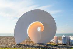 Batumi, Georgia. Sculpture at balck sea shore in Batumi, Georgia Royalty Free Stock Photos