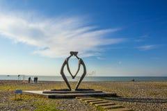 Batumi, Georgia. Sculpture at balck sea shore in Batumi, Georgia Royalty Free Stock Photography