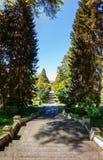 Batumi Gruzja, Kwiecień, - 26, 2017: Giorgi Gabrichidze nadmorski park Panoramiczny widok Mtsvane Kontskhi Batumi (Zielony przylą Obraz Royalty Free