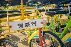 BATUMI, GRUZJA roweru do wynajęcia system w Batumi System tworzy zarządem miasta Batumi Zdjęcie Royalty Free