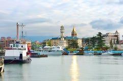 Batumi harbor, Georgia Stock Photo