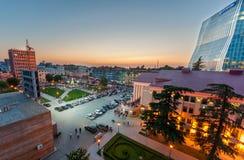 BATUMI - 3. JULI: Schöne Abendansicht über Batumi-Quadrat im Schläger Lizenzfreie Stockfotos