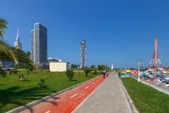 Batumi Miasto bulwar zdjęcia stock