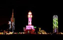 Batumi at night Stock Image