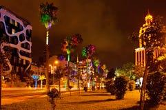 Batumi på natten arkivfoton