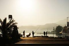 Batumi plaży ranek fotografia stock