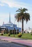 Batumi port morski obraz stock