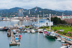 Batumi seaport Stock Photo