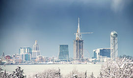 Batumi Under Snow Royalty Free Stock Images