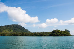 Batupute mountian in andaman sea Royalty Free Stock Photos