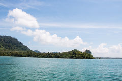 Batupute mountian in andaman sea Royalty Free Stock Images