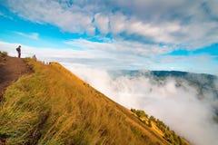从Batur火山的顶端美丽的景色 巴厘岛 库存图片
