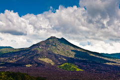 Batur火山风景在巴厘岛的 免版税库存图片