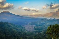 Batur火山 免版税库存图片