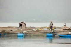 batur湖 库存照片