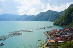 湖Batur 免版税库存照片