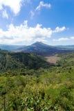 Ηφαίστειο Batur και βουνό Agung, Μπαλί Στοκ Εικόνα