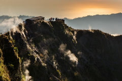 Batur fumarento da montagem do vulcão Imagem de Stock Royalty Free